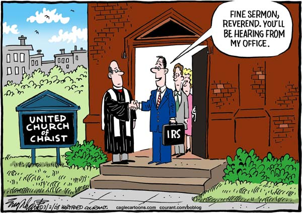 IRS agent goes to church