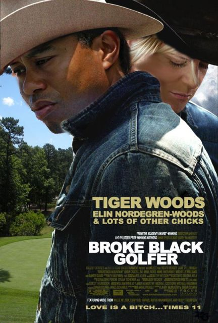 Poster of Tiger Woods As Broke Black Golfer