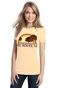 woman with beaver t-shirt