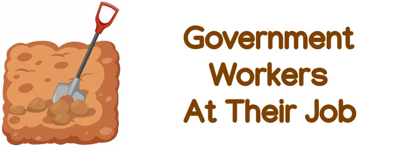 Government Workers At Their Job