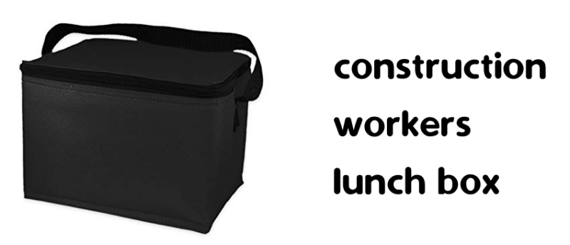 construction workers lunch box