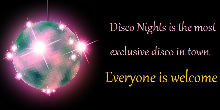 disco nights notice