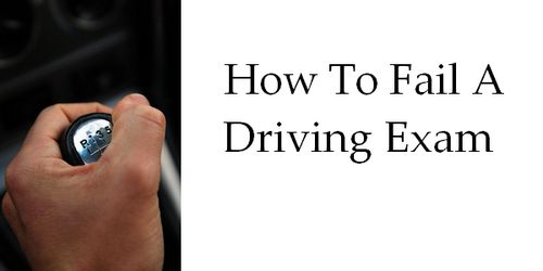 hand on gearshift during driving exam